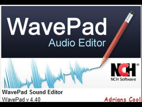 wavepad sound editor codes