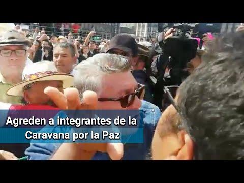 Simpatizantes de AMLO agreden a integrantes de la Caravana por la Paz