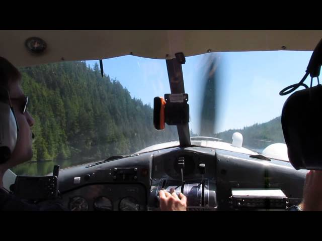 Landing a DHC2 beaver at Louie lagoon for the start of the nootka trail