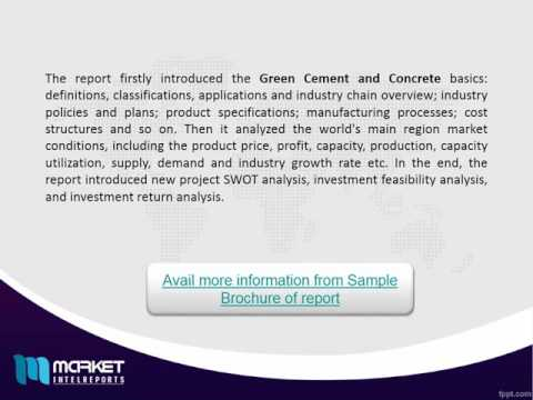 Global Green Cement and Concrete Market: APAC and Europe are the Leading Markets - Recent Study