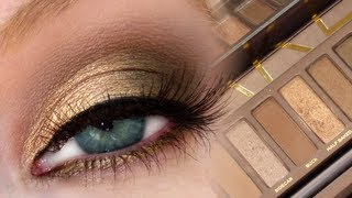 Golden Brown Smokey Eye | UD Naked Palette + MAC Dupes!