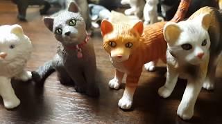 Коллекционные фигурки кошек фирм Schleich, Bullyland, Papo, подделки фирмы Collecta.