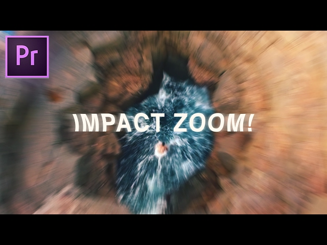 IMPACT ZOOM Bump Effect | Adobe Premiere Pro CC 2017 Tutorial (How to)