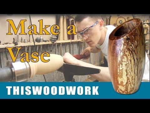 Woodturning   Log to Vase on the Wood Lathe