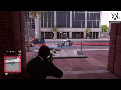 Watch Dogs 2 Gameplay: CTRL-ALT-DEL Grenade Launcher- Using the grenade launcher to escape police