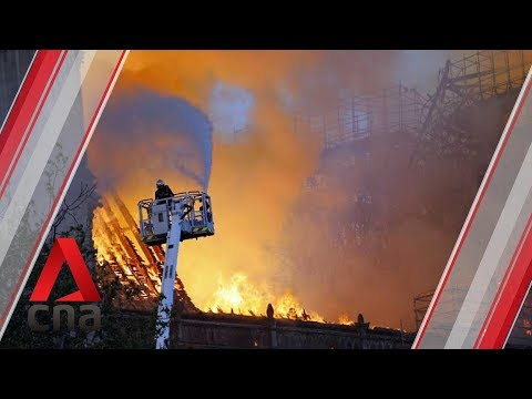 Firefighters battle huge fire at Notre-Dame Cathedral