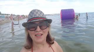 Одесский пляж ЛУЗАНОВКА. Развлечения на море.