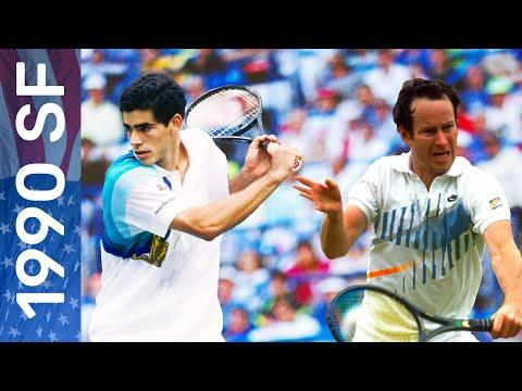 Pete Sampras vs John McEnroe | US Open 1990 Semifinal