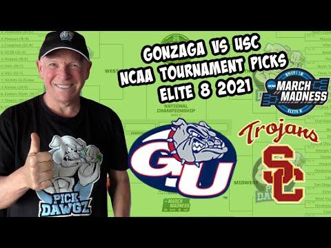 Gonzaga vs USC 3/30/21 Free College Basketball Pick and Prediction NCAA Tournament  Elite 8