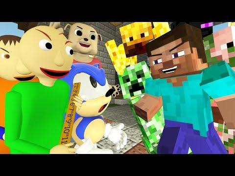 ШКОЛА МОНСТРОВ: БАЛДИ Vs МОБЫ ЧЕЛЛЕНДЖ (Minecraft АНИМАЦИЯ)