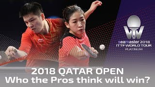 2018 Qatar Open   Who do the pros think will win?