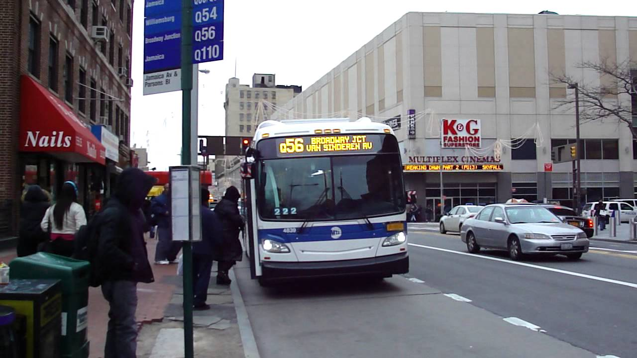 Mta New York City Bus New Flyer Xd40 4839 Q56 Jamaica
