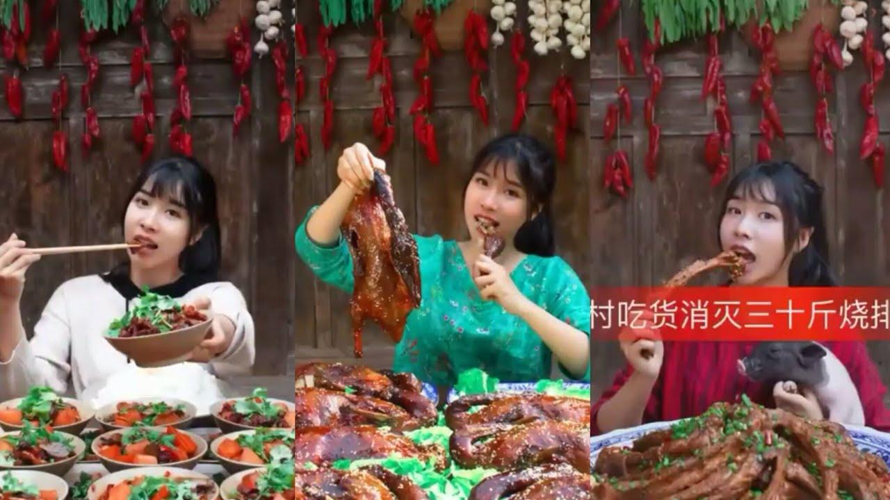[Ăn Uống Trung Quốc] Cô gái ăn nhiều nhất thôn-Dịch Điềm Điềm|Phượng Linh Cung.