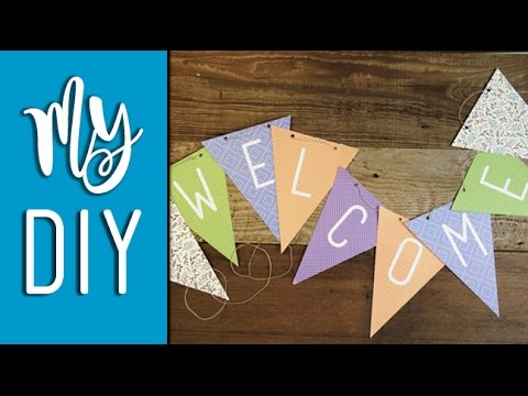 Quick And Easy Pennant Banner Tutorial Using Your Silhouette Cameo