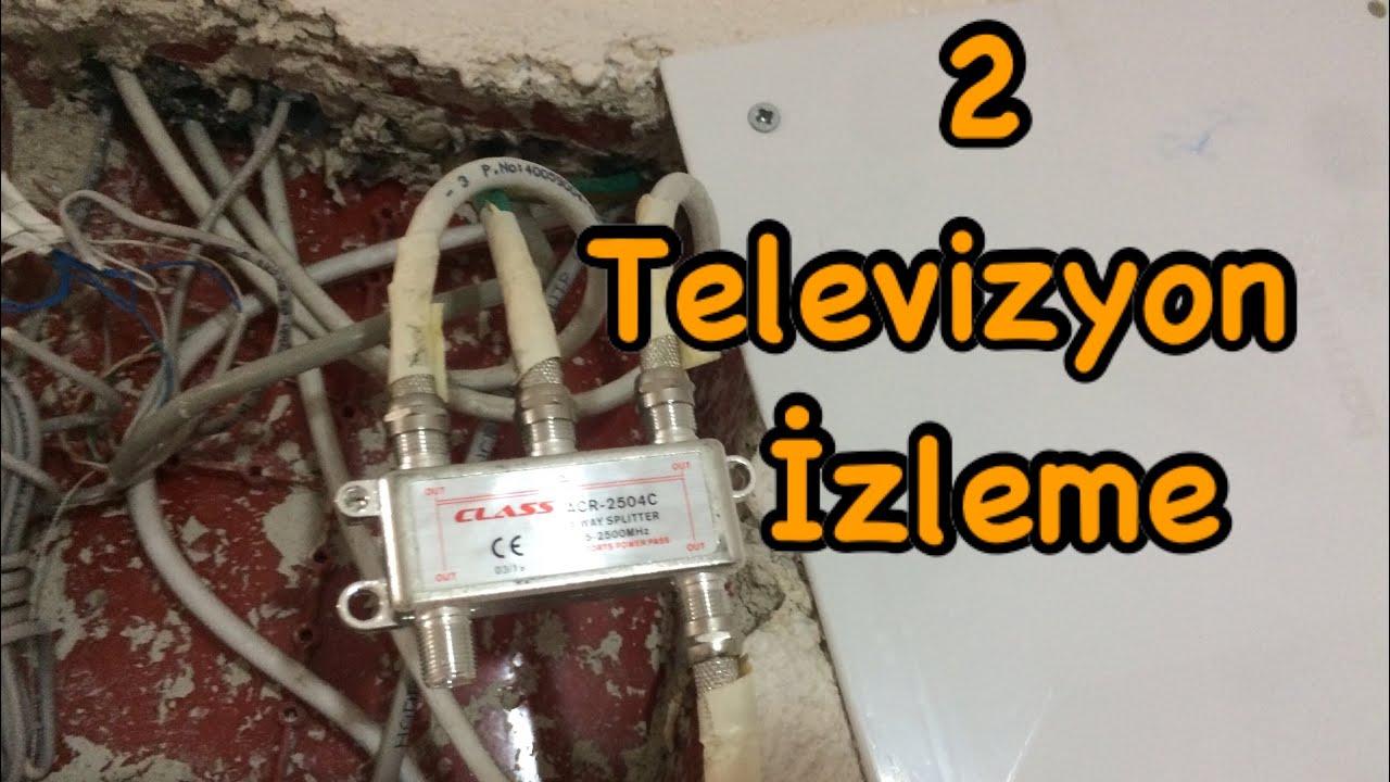 Tek kablo ile 2 iki tv çalıştırma