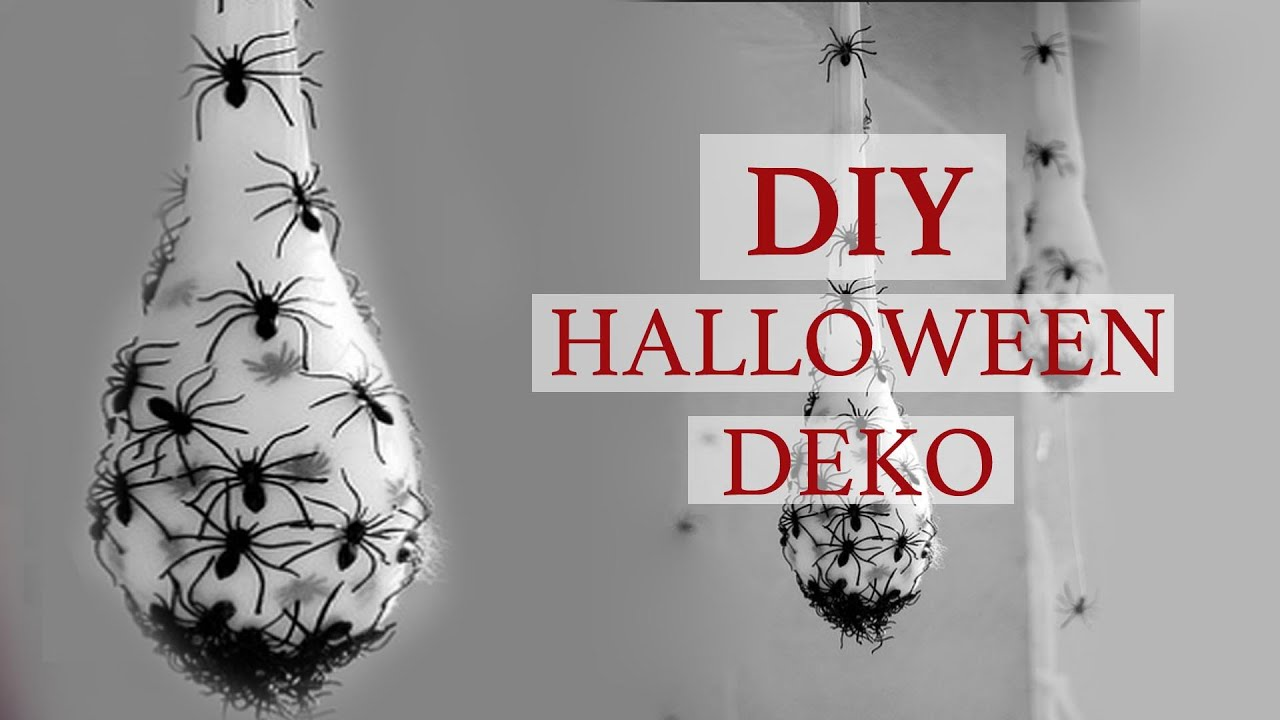 diy i halloween spinnen deko youtube. Black Bedroom Furniture Sets. Home Design Ideas