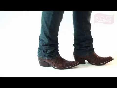 Bota Texana Masculina Escamada Havana Bico Fino - West Country - YouTube 044c792e1a4