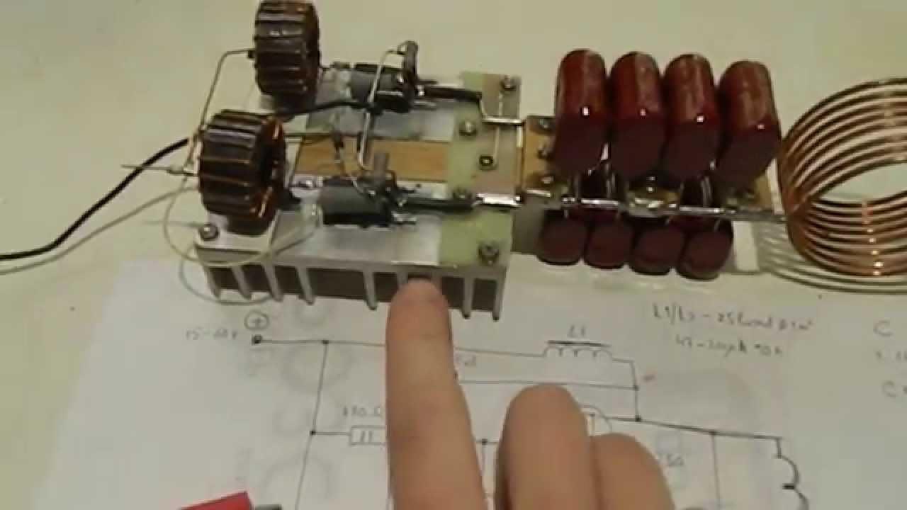 схема индуктора для нагрева металла