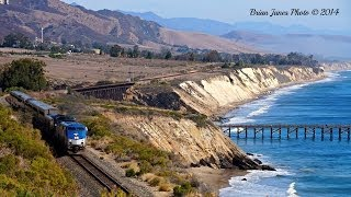 HiDef - California Coast Train Chase - The Amtrak Coast Starlight. February 17th, 2014