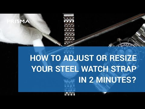 Adjust or resize a steel watch strap or band in minutes