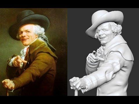 Joseph Ducreux sculpture timelapse
