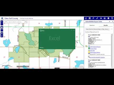 5g CSV to Excel - Otter Tail County, MN GIS Web App