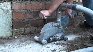 старенький штроборез Bosch GNF 65 A. Аренда штробореза с пылесосом