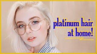 How To Get Icy Platinum Blonde Hair at Home! / Kel Lauren (2018 Version)