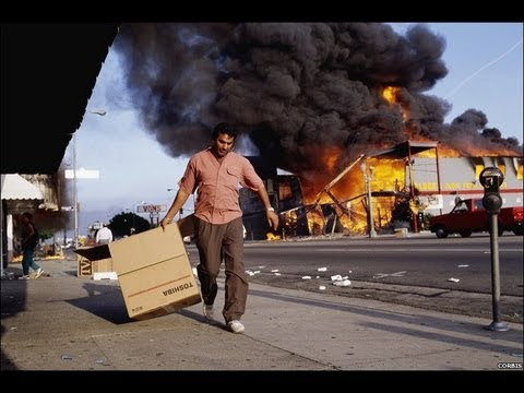 "South Central L.A. Riots - 1992 After ""Not Guilty"" Verdict"