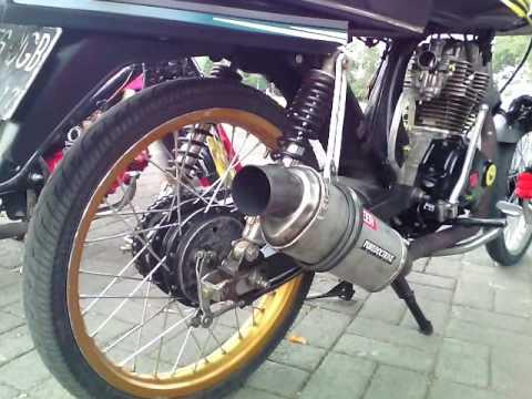 Wow Modifikasi Honda Gl Pro Nya Velg Ring 17 Lampu Depan