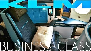 KLM BUSINESS CLASS Amsterdam to Abu Dhabi|Boeing 787-9 Dreamliner
