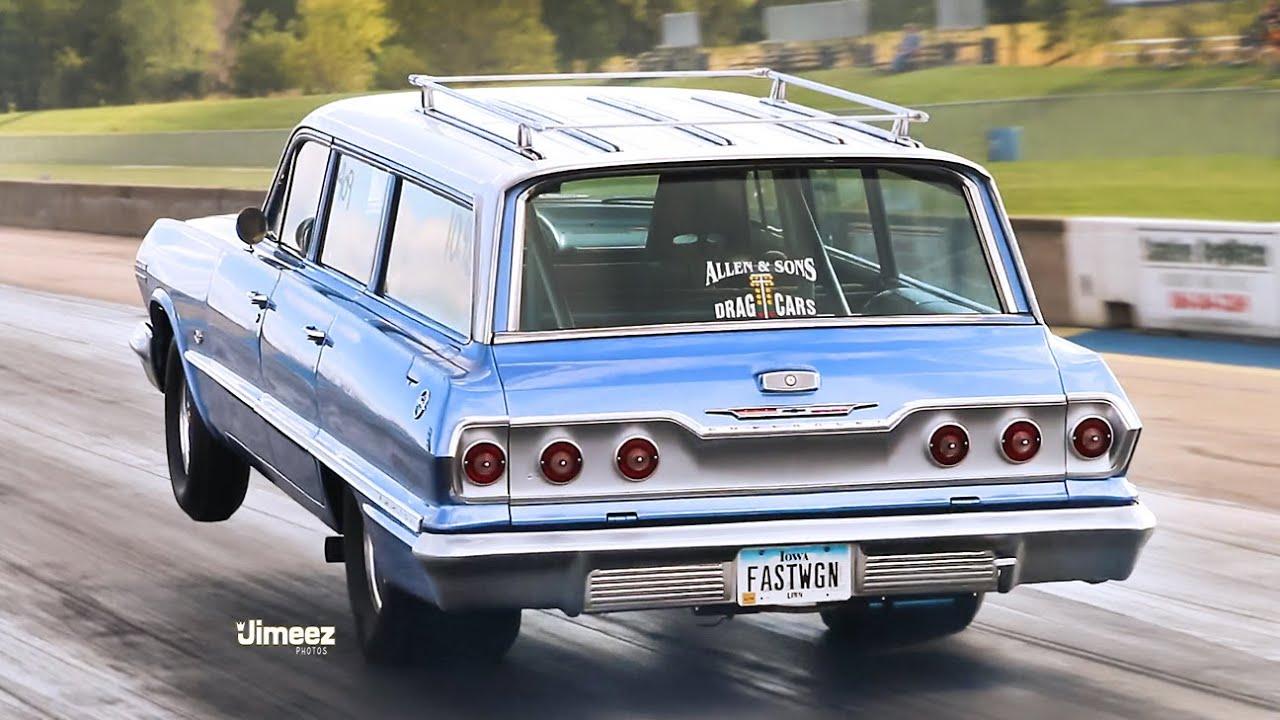 WHEELIN WAGON! 10 SEC STREET LEGAL! '63 IMPALA WAGON! HUNNERT ...