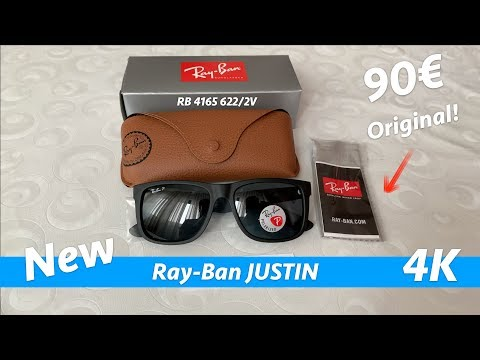 Ray-Ban Justin RB4165 622/2V 55 Polarized - unboxing and full review in 4K