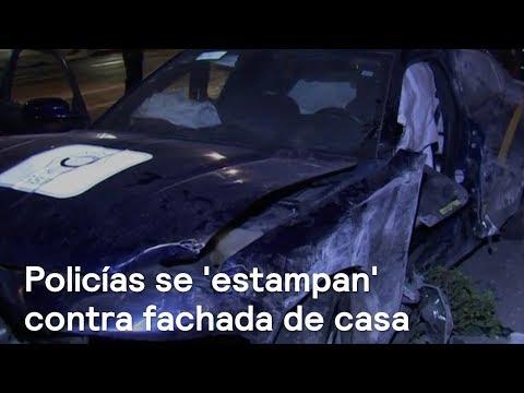 Patrulla choca contra casa en la colonia Del Valle - Las Noticias con Danielle