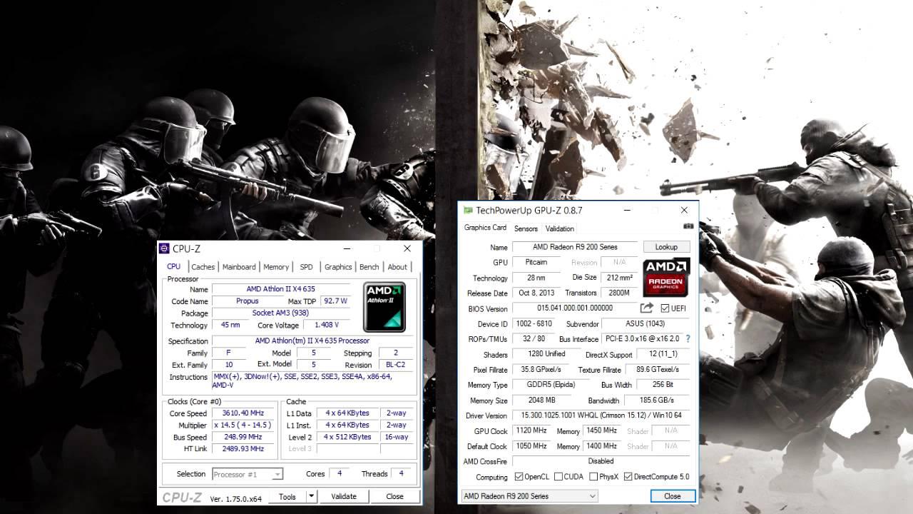 Rainbow Six Siege Ultra Settings Atlhon Ii X4 635 3 6mhz R9 270x Youtube