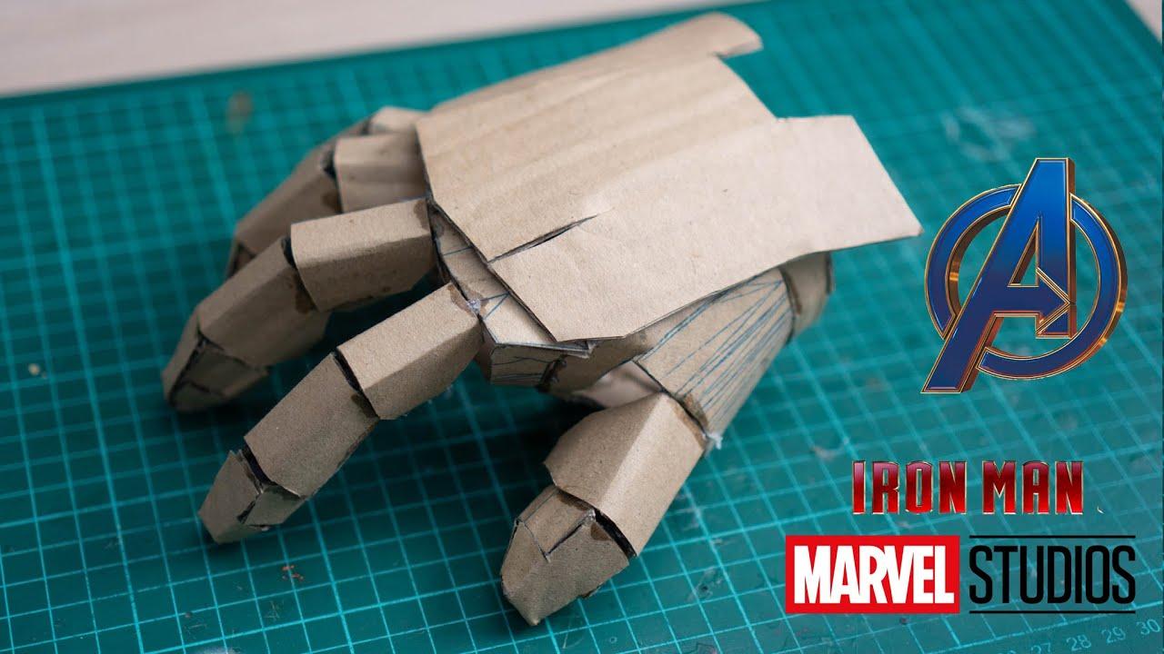 Part1: Make Cardboard IRON MAN Hand Mark 85 Avengers4 Endgame