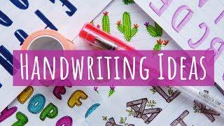 COOL HANDWRITING IDEAS 😍🌵📚 CUTE HANDWRITING STYLES FOR HEADINGS & SCHOOL NOTES