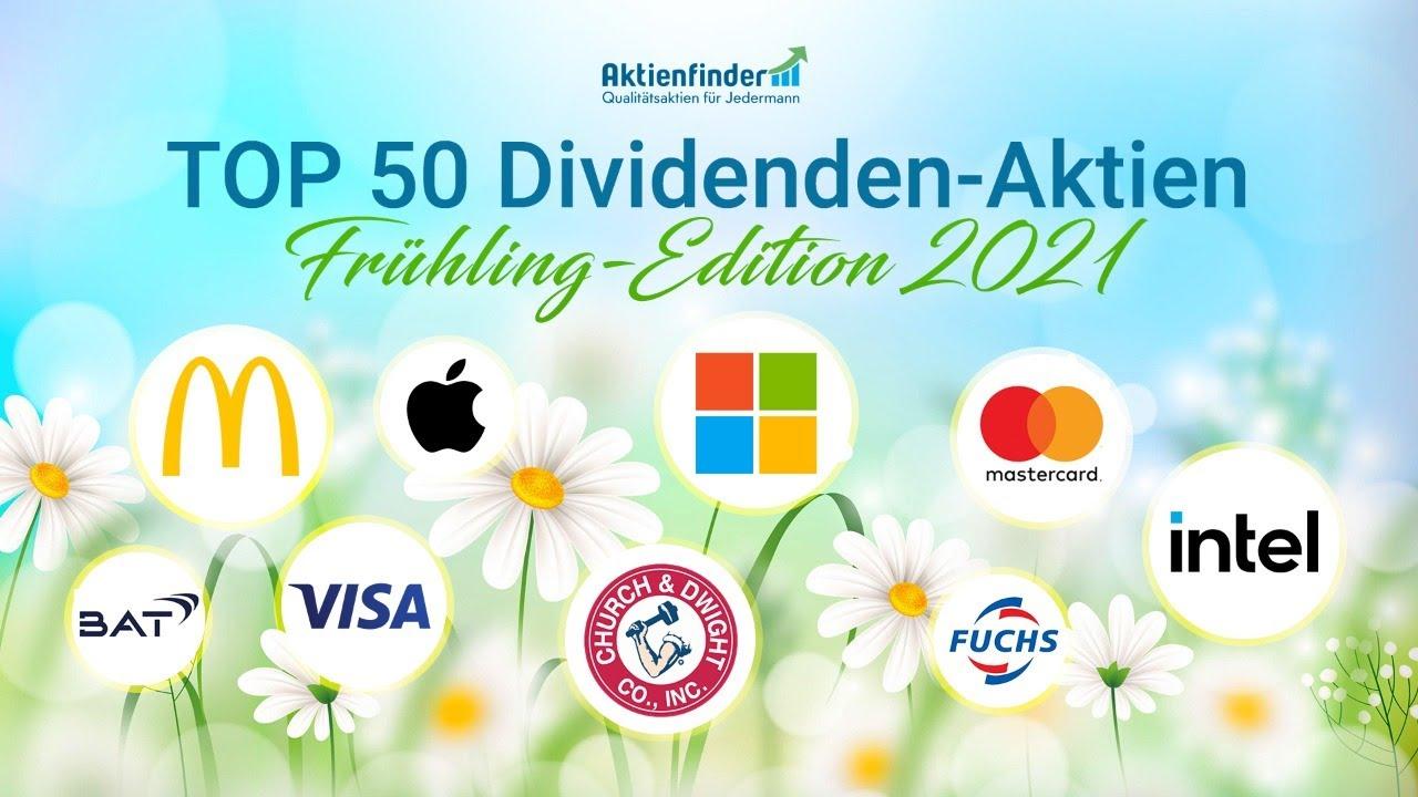 Top 50 Dividenden-Aktien im Frühling 2021 - YouTube