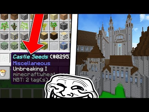 PLANT THESE SEEDS TO SPAWN A CASTLE TROLL ON MINECRAFT!