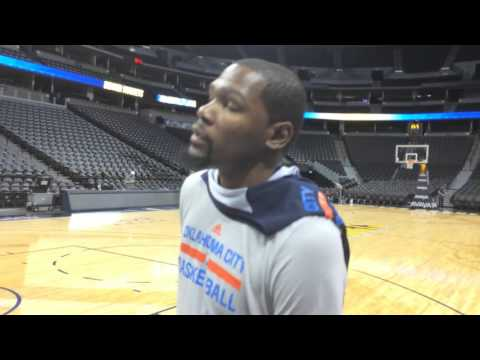 Durant: Shootaround in Denver - April 5, 2016