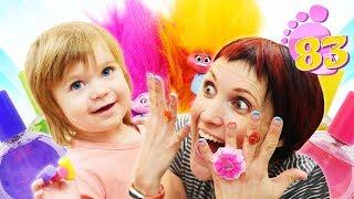 Привет, Бьянка и Тролли - Примеряем украшения - Видео для детей