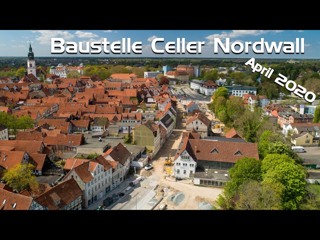 Baustelle Celler Nordwall im April 2020 noch mit Nordwall-Halle