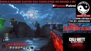"Round 3 UNBEATABLE WORLD RECORD ""Der Eisendrache"" Easter Egg Low Round (FULL GAMEPLAY) BO3 Zombies"