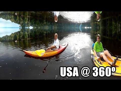 Santa Fe River Kayak 360 Virtual Reality VR - KodakSP360
