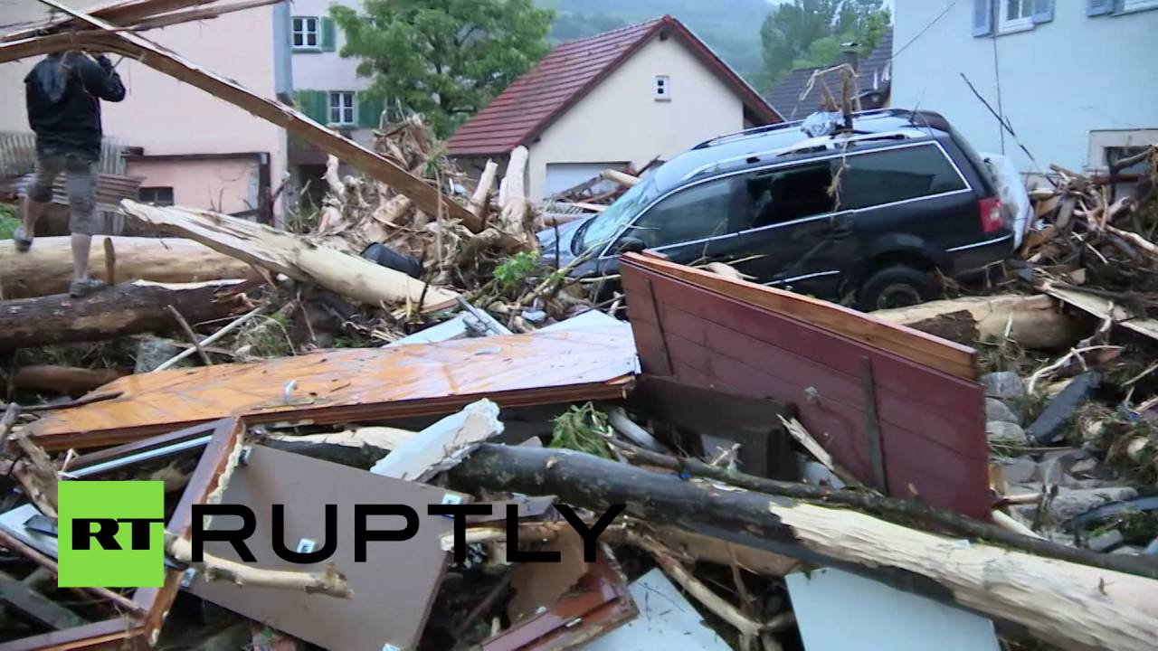 Flooding chaos causes death destruction in baden - Mobelhauser baden wurttemberg ...