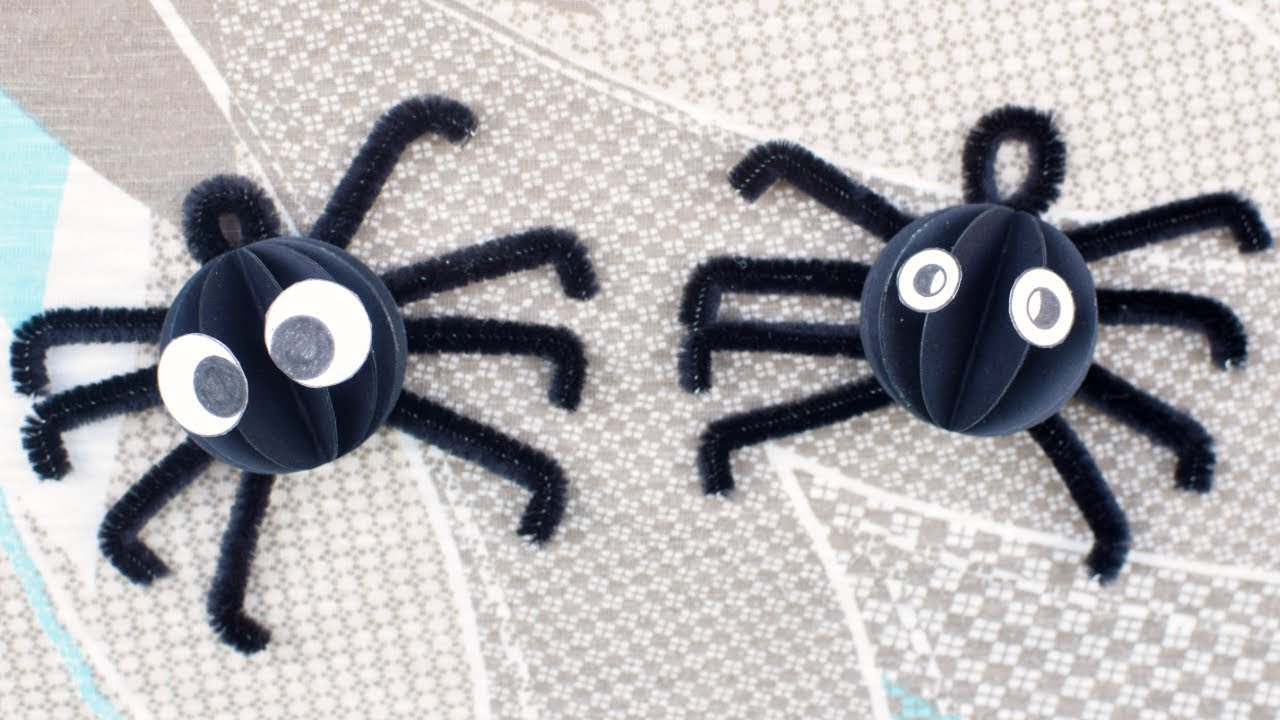 Simple Spider Craft Paper And Pipe Cleaner Spider Craft For Kids