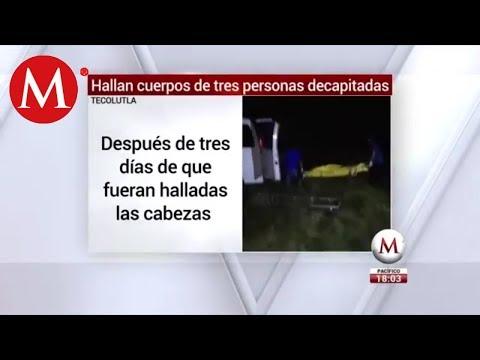 Encuentran cuerpos de tres personas decapitadas en Tecolutla