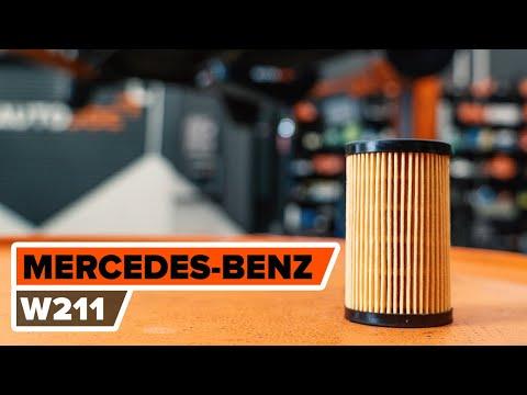 Como substituir a filtro de óleo e óleo do motor no MERCEDES-BENZ W211 Classe E [TUTORIAL AUTODOC]