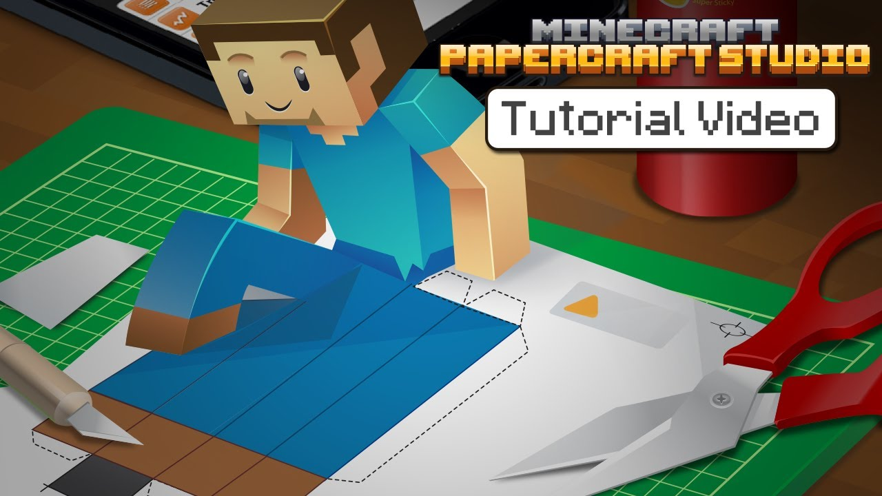Papercraft Tutorial - Minecraft Papercraft Studio
