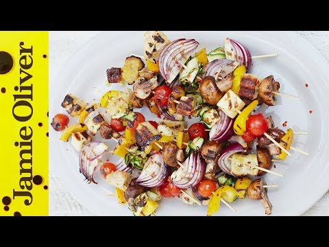 Chargrilled Veggie Kebabs | The Happy Pear